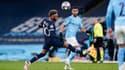 Neymar et Riyad Mahrez lors du match Manchester City-PSG, à l'Etihad Stadium le 4 mai 2021