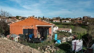 La maison du couple Jubillar à Cagnac-les-Mines dans le Tarn.