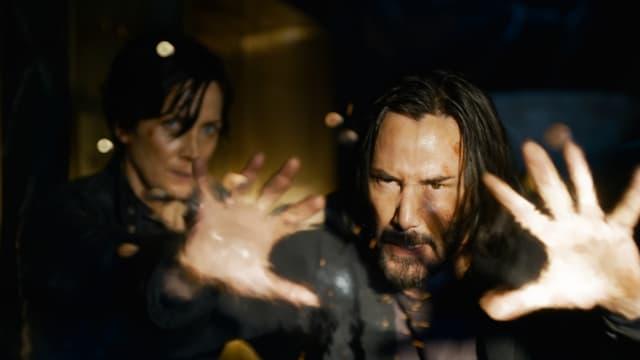 "Carrie-Anne Moss et Keanu Reeves dans ""Matrix 4"""