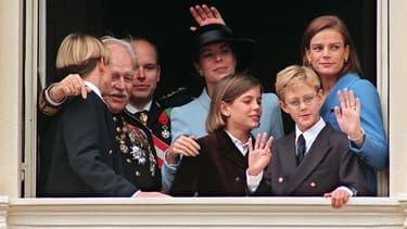 La famille princière de Monaco, en 1997.
