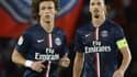 David Luiz et Zlatan Ibrahimovic (PSG)