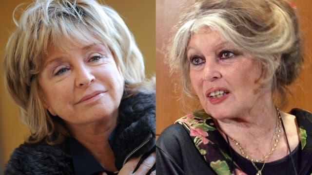 Danièle Thompson et Brigitte Bardot