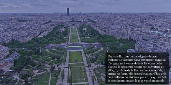 Le programme StreetView de Google a capté des vues à 360°, offrant un panorama sur la capitale.
