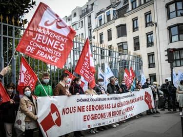 Manifestation d'étudiants à l'appel de l'Unef, le 8 avril 2021 à Paris