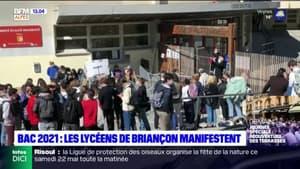 Bac 2021: les lycéens de Briançon manifestent
