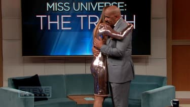 Miss Colombie et Steve Harvey
