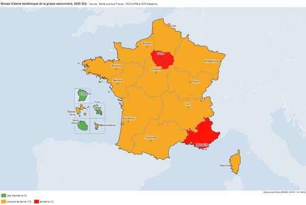 L'Ile-de-France est en alerte épidémique pour la grippe saisonnière.