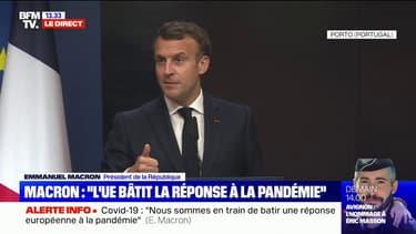 """Emmanuel Macron appelle les États-Unis à """"mettre fin aux interdictions à l'export des vaccins et des composants des vaccins"""""""