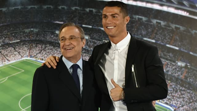 Florentino Perez et Cristiano Ronaldo (Real Madrid)