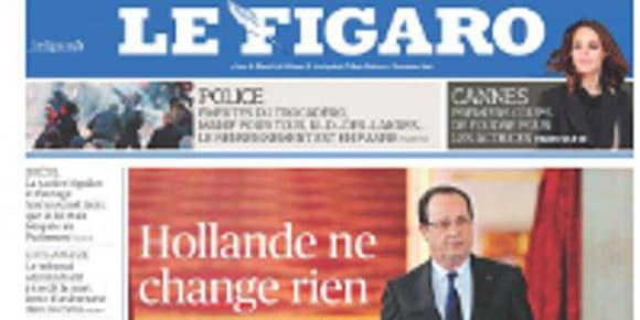 La Une du Figaro, vendredi 17 mai