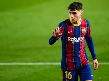 Pedri lors d'un match du Barça au Camp Nou