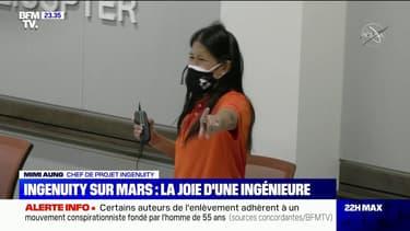 Ingenuity sur Mars: la joie de la cheffe de projet de l'hélicoptère