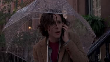 "Timothée Chalamet dans ""A Rainy Day in New York"""