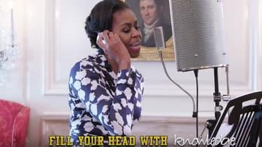 Michelle Obama montre ses talents de rappeuse dans une vidéo pour encourager les jeunes Américains à étudier à l'université.