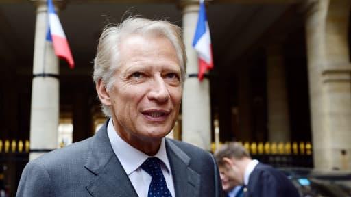Dominique de Villepin devant le Conseil constitutionnel. Ancien ministre des Affaires étrangères et rival de Nicolas Sarkozy.