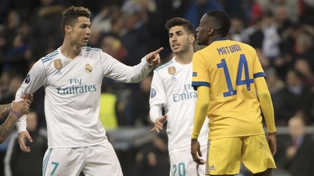 Blaise Matuidi et Cristiano Ronaldo lors de Real Madrid-Juventus