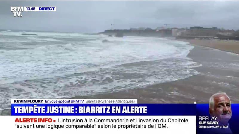 Malgré la fin de la vigilance orange pour vagues-submersion, Biarritz se prépare à un nouvel épisode de marée haute ce dimanche soir
