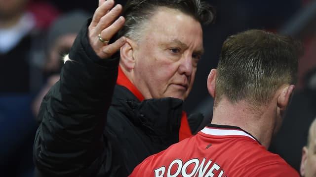Louis van Gaal et Wayne Rooney