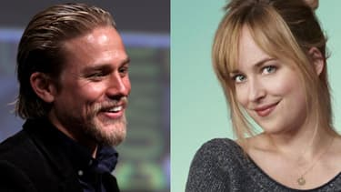"""Charlie Hunnam et Dakota Johnson incarneront le couple du film """"50 nuances de Grey""""."""