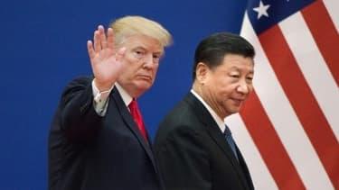 Donald Trump et Xi Jinping à Pékin, en novembre 2017.