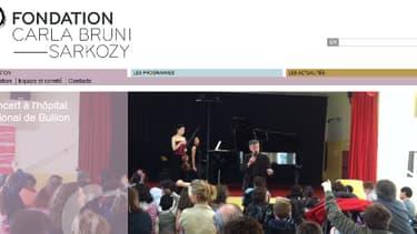 Le site Internet de la fondation Carla Bruni-Sarkozy.