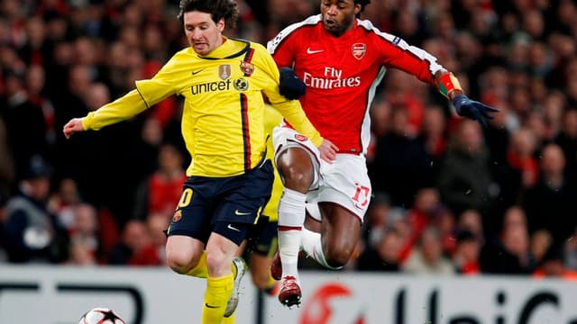 Lionel Messi et Alexandre Song