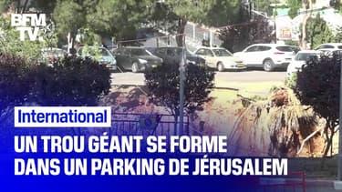 À Jérusalem, un trou géant se forme sur le parking d'un hôpital