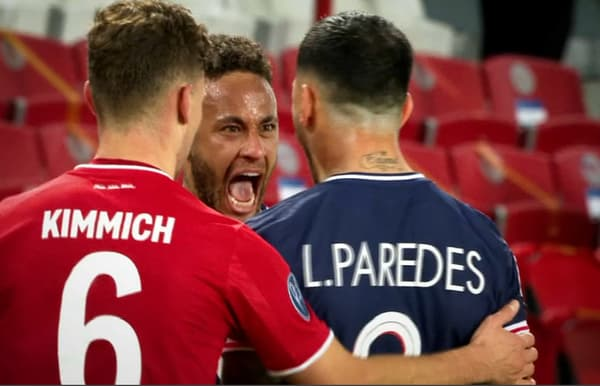 Neymar et Paredes explosent de joie devant Kimmich