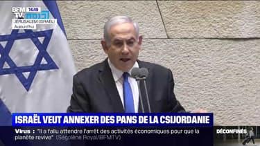 """Benjamin Netanyahu (Premier ministre israélien): """"Il est temps"""" d'annexer des pans de la Cisjordanie occupée"""