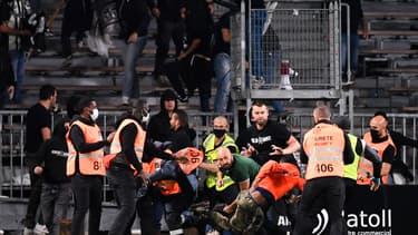 Les bagarres au stade Raymond-Kopa