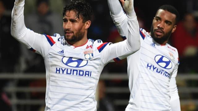 Nabil Fékir et Alexandre Lacazette de nouveau associés au sein de l'attaque lyonnaise