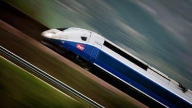 Image d'illustration d'un train à grande vitesse