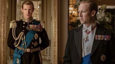 """Matt Smith et Tobias Menzies dans """"The Crown"""""""