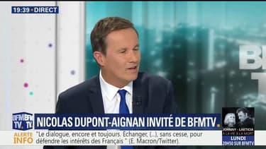 """""""Je veux être un accoucheur de coalition"""", déclare Nicolas Dupont-Aignan"""