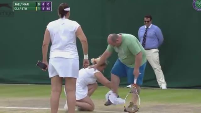 Kim Clijsters en action