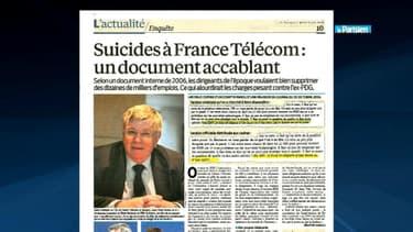 Le Parisien a publié le compte rendu d'une réunion de cadres de France Telecom d'octobre 2006.