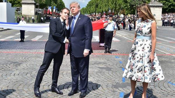 Emmanuel Macron et Donald Trump le 14 juillet 2017 à Paris.