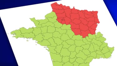 Carte de France des départements affectés par le coronavirus.