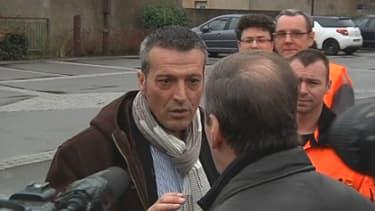 Edouard Martin avait prévu d'accueillir Manuel Valls à Florange ce lundi 10 février. Mais son service d'ordre en a décidé autrement.