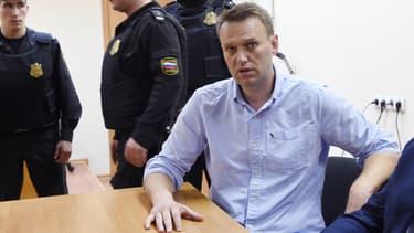 Alexandre Navalny, après son arrestation le 13 janvier 2017, à Moscou.