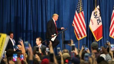 Le candidat républicain Dinald Trump, lors d'un meeting dans l'Iowa, le 26 janvier.