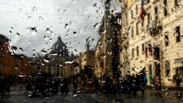 Le Via della Conciliazione à Rome sous la pluie, le 11 novembre 2019