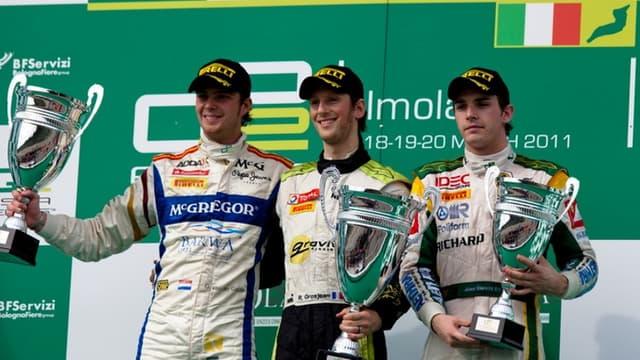Jules Bianchi aux côtés de Romain Grosjean