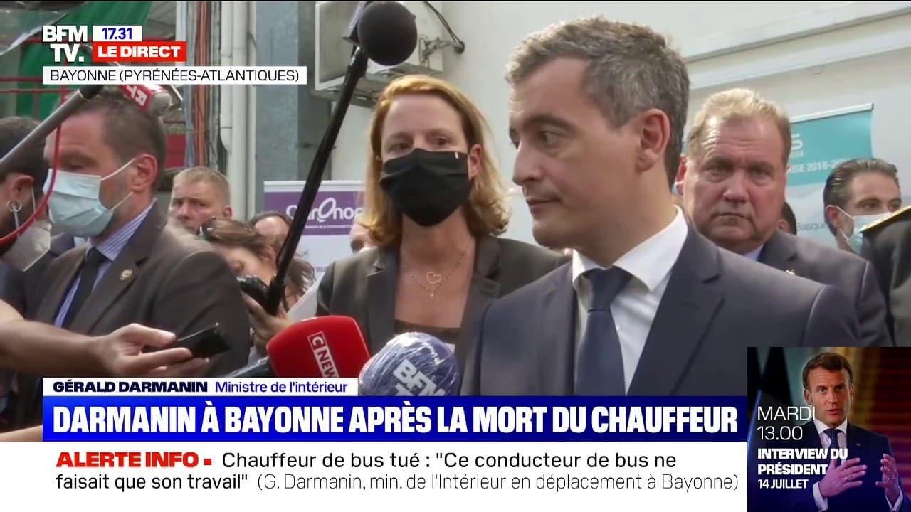 """Gérald Darmanin à Bayonne: """"Je sais que trop souvent, les honnêtes gens ont peur. Nous sommes là pour les rassurer"""""""