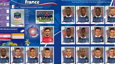 Parmi les 17 joueurs choisis par Panini figurent Nasri et Abidal qui ne sont pas selectionnés