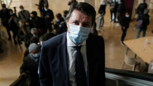 Le maire de Nice Christian Estrosi à Nice, le 6 mars  2021