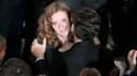 Nicolas Sarkozy embrasse Nathalie Koscisuko-Morizet lors du meeting de cette dernière, lundi à Paris.