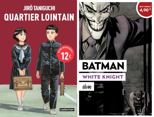 """Les couvertures des nouvelles éditions de """"Quartier Lointain"""" et """"White Knight"""""""
