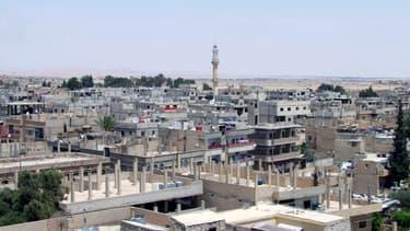 Vue générale de la ville de Palmyre, en Syrie, tombée aux mains de Daesh le 21 mai.