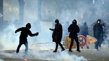 Lors des manifestations du 1er mai 2018, à Paris.